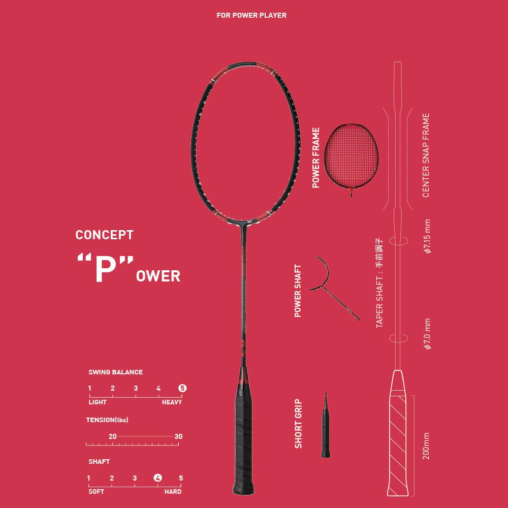 レスモP7(コンポジットテクノバドミントンラケット)性能・口コミ