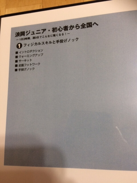 浪岡JrバドミントンDVDのパッケージ1枚目フィジカルスキルと手投げノック