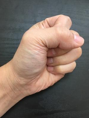 ラケットの握り方の確認